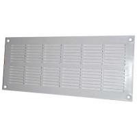 DMO S Grille aération PVC rectangulaire plate menuiserie àvisser 337x131mm