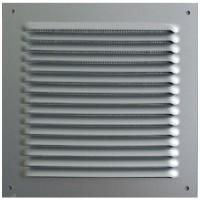 DMO S Grille métal carrée àauvent avec moustiquaire 190x190 alu