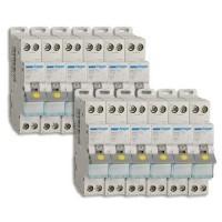 HAGER Lot de 12 disjoncteurs électriques à borne à vis 10A - MFN710