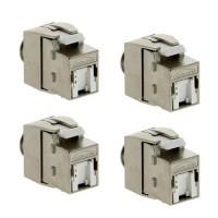 IKEPE Lot de 4 connecteurs RJ45 Grade 2TV  femelle Categorie 6 STP