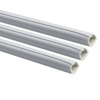INOFIX Cablefix Gaine adhésive 10,5 x 10 mm - Blanc