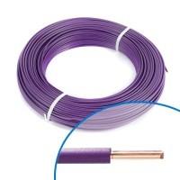Fil électrique rigide HO7VU 1.5² violet - Couronne de 100m