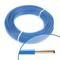 Fil électrique rigide HO7VU 2.5² bleu - Couronne de 100m