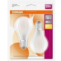 OSRAM Lot de 2 Ampoules LED en verre dépoli 806lm 230V E27 7W blanc chaud standard