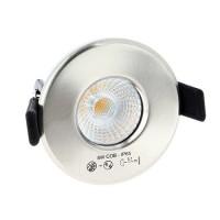 Spot LED 8W dimmable fixe à encastrer en alu brossé BBC