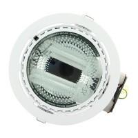 Downlight plafonnier blanc 2x15W + 2 ampoules E27 15W 2700K