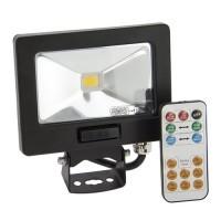 Projecteur extérieur LED extra plat 10W à détection avec télécommande marche forcée
