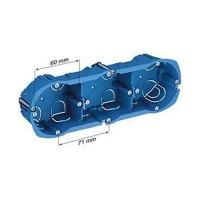 SCHNEIDER Multifix Plus Boîte triple prof. 40 mm entraxe 71 mm