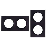 SCHNEIDER Odace Plaque double anthracite - S540704