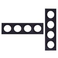 SCHNEIDER Odace Plaque 4 postes anthracite - S540708
