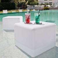 Cube lumineux à LED multicolore sans fil étanche 35cm