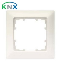 SIEMENS KNX Delta Line plaque simple blanc titane 80X80mm