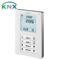 SIEMENS KNX Appareil d'ambiance avec écran LCD et sonde QMX3.P37