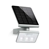 STEINEL Luminaire solaire extérieur LED à détecteur argent Xsolar L