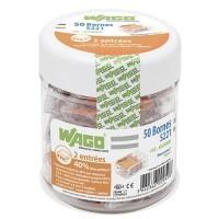 WAGO S221 Pot de 50 bornes de connexion automatique 2 fils