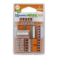WAGO S221 blister de 15 bornes de connexion automatique 5 fils
