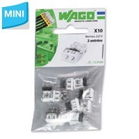 WAGO Sachet de 10 mini-bornes de connexion 2 fils S2273