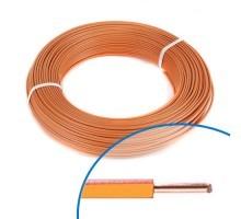 Fil électrique rigide HO7VU 1.5² orange - Couronne de 100m