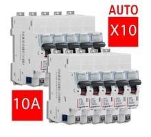 LEGRAND DNX3 Lot de 10 disjoncteurs électriques 10A auto - LOT406782