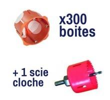 CAPRI Capritherm Lot de 300 boites encastrement D67 P40 + scie cloche