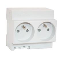 DIGITAL ELECTRIC Double prise modulaire 2P+T 16A