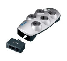 EATON Parasurtenseur 5 prises 2P+T + protection de ligne tel/Internet