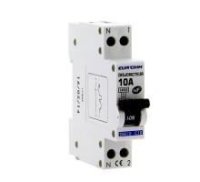 EUROHM Disjoncteur 10A 1P+N NF