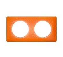 LEGRAND Céliane Plaque Memories 2 postes 70's orange - 066652
