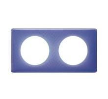 LEGRAND Céliane Plaque Memories 2 postes 90's violet - 066662