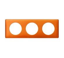 LEGRAND Céliane Plaque Métal 3 postes Orange snake - 068763