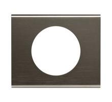 LEGRAND Céliane Plaque Matières 1 poste Black nickel - 069031