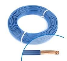 Fil électrique rigide HO7VR 6² bleu - Couronne de 100m
