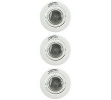 Kit de 3 spots 3x50W GU10 230X orientables BLC
