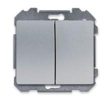 SIEMENS Delta Iris Mécanisme interrupteur double poussoir - Silver