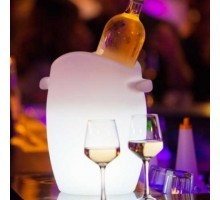 Seau à champagne lumineux à LED multicolore sans fil étanche