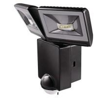 THEBEN LUXA Projecteur extérieur LED 2x8W noir avec détecteur de mouvement IP44