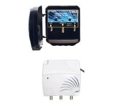 TONNA Kit amplificateur de mât 4G 2 entrées et alimentation 2 sorties