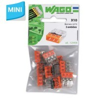 WAGO Sachet de 10 mini-bornes de connexion 3 fils S2273