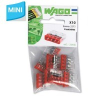 WAGO Sachet de 10 mini-bornes de connexion 4 fils S2273