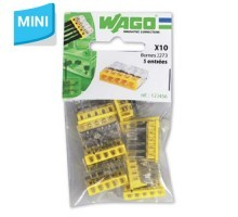 WAGO Sachet de 10 mini-bornes de connexion 5 fils S2273