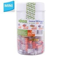 WAGO Flacon de 100 mini-bornes de connexion 2, 3, 5,et 8 fils S2273
