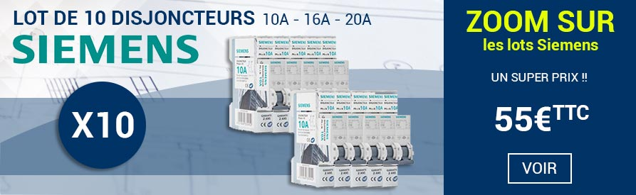 Lot disjoncteurs Siemens