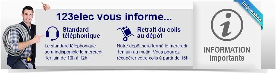Information téléphone et retrait dépôt