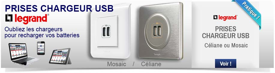 Prises chargeur USB Legrand