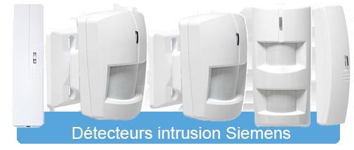 Systèmes d'alarme Siemens - Détecteurs intrusion