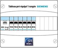 tableau lectrique pr quip siemens 13 modules 1 rang e. Black Bedroom Furniture Sets. Home Design Ideas