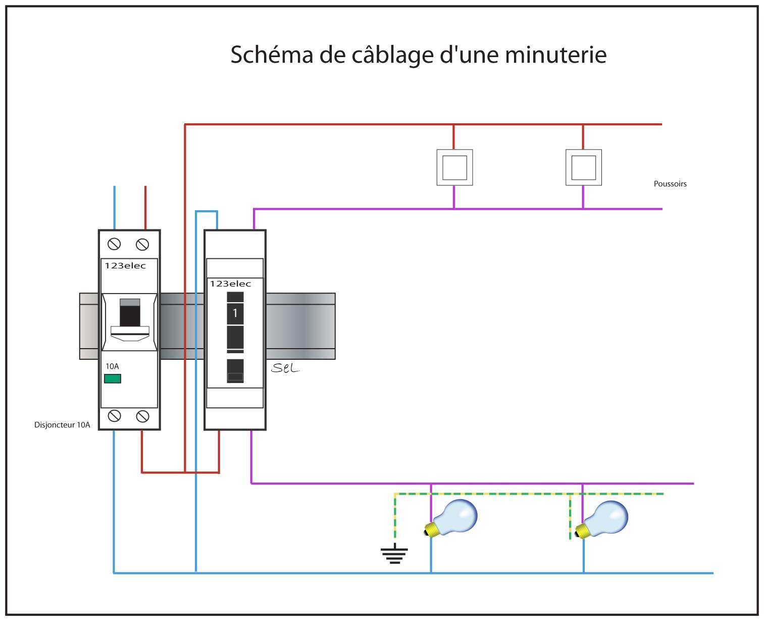 Schema installation minuterie